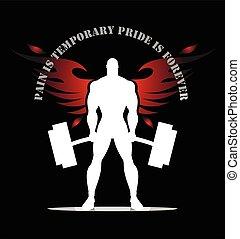 πτερωτός , bodybuilder., σπουδαίος