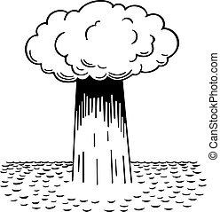 πυρηνικός , water-surface, έκρηξη