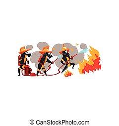 πυροσβέστες , γράμμα , μάσκα , δουλειά , πυροσβέστης , φωτιά , εικόνα , ομοειδής , νερό , αφρός θάλασσας , μικροβιοφορέας , φόντο , άσπρο
