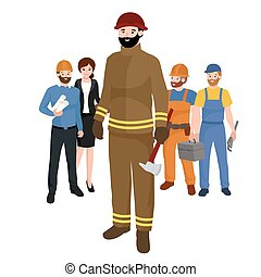 πυροσβέστης , επαγγέλματα , ζεύγος ζώων , εργάτης , απομονωμένος , εικόνα , μικροβιοφορέας , ακόλουθοι , man.