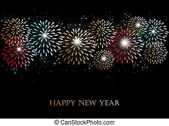 πυροτεχνήματα , έτος , φόντο , καινούργιος , 2014, ευτυχισμένος