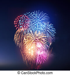 πυροτεχνήματα , γεμάτος χρώμα , εκθέτω , εορταστικός