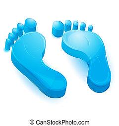 πόδια αντίτυπο χαρακτικής τέχνης