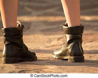 πόδια , κορίτσι , παπούτσια , δρόμοs