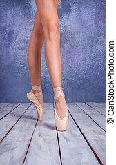 πόδια , παπούτσια , pointe , νέος , μπαλλαρίνα
