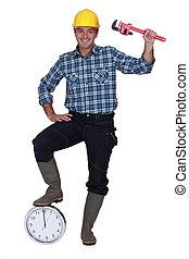 πόδι , δομή , δικός του , εργάτης , ρολόι
