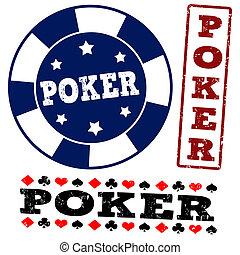 πόκερ , θέτω , αποτύπωμα