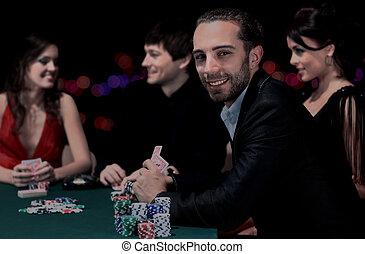 πόκερ , τριγύρω , κάθονται , καζίνο , ηθοποιός , τραπέζι