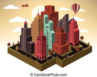 πόλη , άποψη