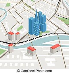 πόλη , αφαιρώ , άποψη , χάρτηs