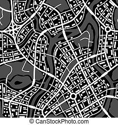 πόλη , αφαιρώ , pattern., seamless, χάρτηs