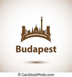 πόλη , βουδαπέστη , αξιοσημείωτο γεγονός , γραμμή ορίζοντα...