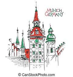 πόλη , γερμανία , μόναχο , γριά , αίθουσα