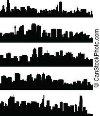 πόλη , γραμμή ορίζοντα