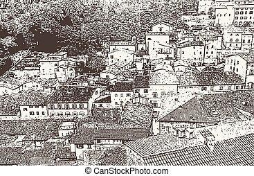 πόλη , γριά , εικόνα , αναγέννηση , μικροβιοφορέας , urbino
