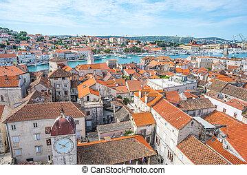 πόλη , γριά , trogir, βενετός , αδριατική , κροατία , θάλασσα