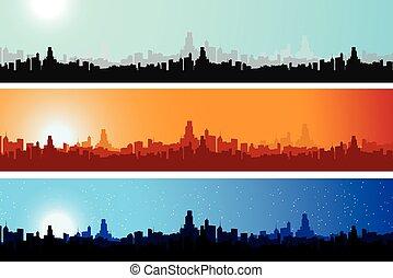 πόλη , διαφορετικός , φορές , scape , γεμάτος χρώμα , ημέρα