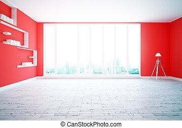 πόλη , δωμάτιο , κόκκινο , βλέπω