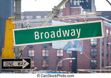 πόλη , η π α , σήμα , δρόμοs , york , broadway , καινούργιος