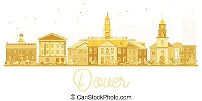 πόλη , η π α , χρυσαφένιος , silhouette., γραμμή ορίζοντα , dover