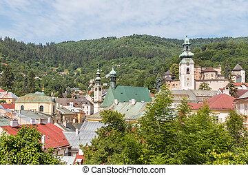 πόλη , ιστορικός , stiavnica, banska, slovakia , κεντρικός