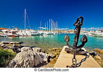 πόλη , λιμάνι , αδριατική , rogoznica, απόπλους