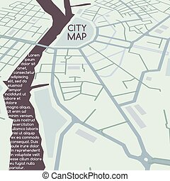 πόλη , μικροβιοφορέας , άποψη , χάρτηs