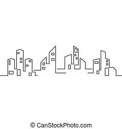 πόλη , μικροβιοφορέας , περίγραμμα , γραμμή ορίζοντα , εικόνα