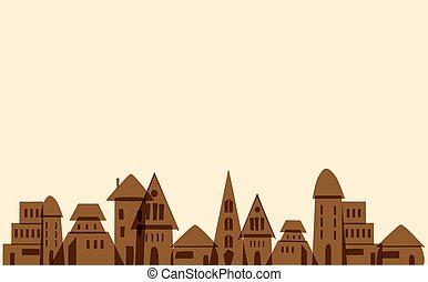 πόλη , μικρός , γριά