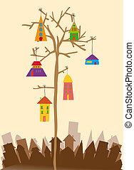 πόλη , μικρός , πουλί