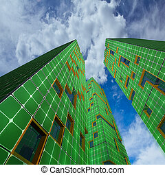 πόλη , οικολογία , ουρανοξύστης