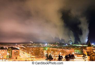 πόλη , πάνω , μόλυνση ατμόσφαιρας