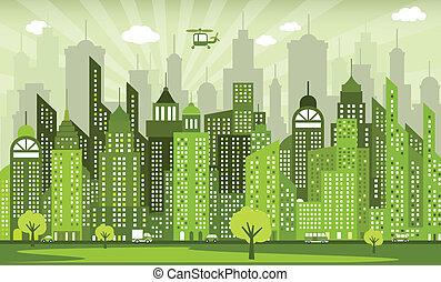 πόλη , πράσινο
