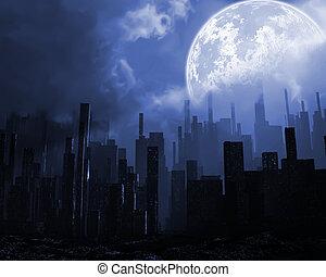 πόλη , σεισμός , εικόνα