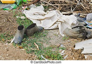 πόλη , σκουπιδότοπος