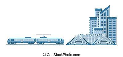 πόλη , τρένο