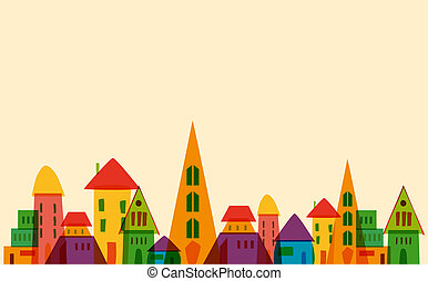 πόλη , χαριτωμένος , μικρός