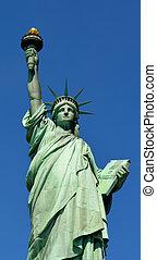 πόλη , 08, - , ελευθερία , york , άγαλμα , καινούργιος