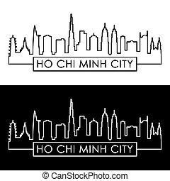 πόλη , ho , minh , chi , skyline.