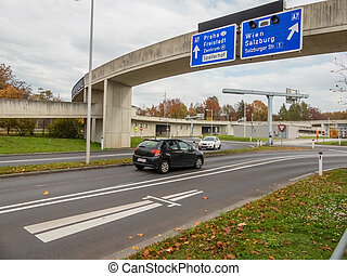 πόλη , linz, αυστρία , εθνική οδόs