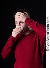 πόνος , ανήρ σπάγγος , μύτη