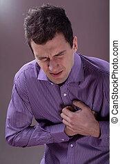 πόνος στο στήθος , άντραs
