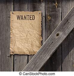 πόρτα , αλλοιώνω με έκθεση στον αέρα , αφίσα , ξύλο , καταζητούμενος , μέρος πολιτικού προγράμματος