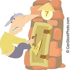 πόρτα , κλειστός