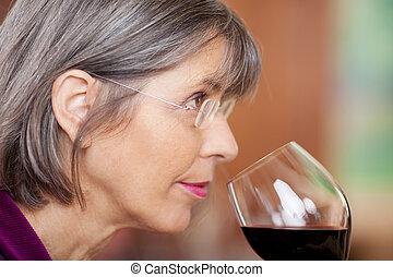 πόσιμο , γυναίκα , κρασί , κόκκινο , εστιατόριο