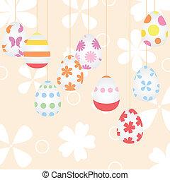 πόσχα , φόντο , με , αυγά , επάνω , cords., ένα , μικροβιοφορέας , εικόνα