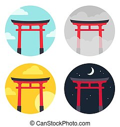 πύλη , θέτω , torii , τοπίο