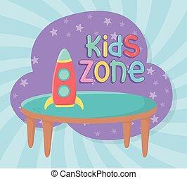 πύραυλοs , τραπέζι , άθυρμα , πλαστικός , ζώνη , μικρόκοσμος