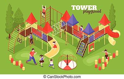 πύργος , μικρόκοσμος , παιδική χαρά , έκθεση