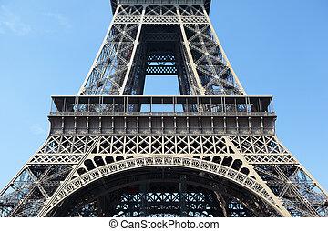 πύργος του αΐφελ , μέσο , τμήμα , πρώτα , πάτωμα , closeup